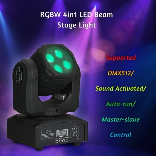 AC110-240V 80W RGBW 4in1 LED Beam Stage Light