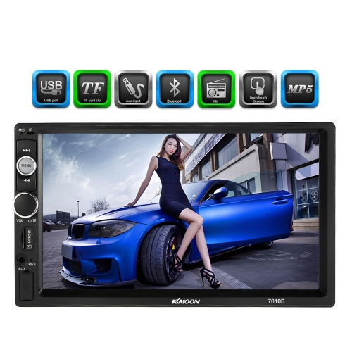 KKmoon 7010B 7 inch Universal 2 Din HD BT Car Radio MP5 Player