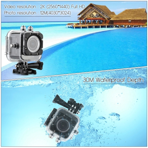 SJCAM M10+ Wifi Mini DV Full HD 2K(2560*1440) 1080P 60fps 12MP Novatek 96660 Diving 30M Helmet Car DVR Outdoor PC Action Sports Camera Camcorder with Waterproof Case
