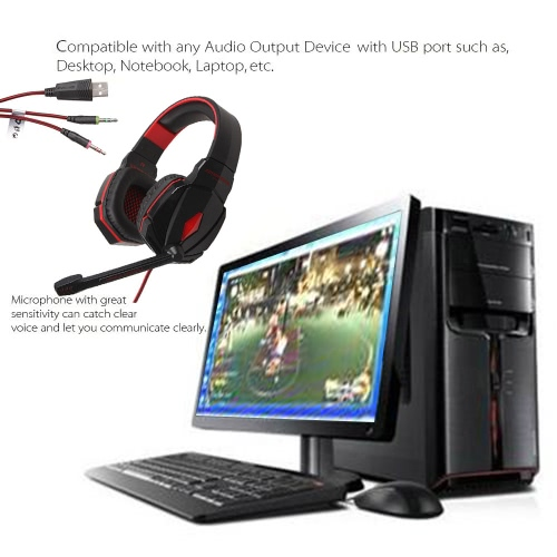 New EACH G4000 Stereo Gaming Headphone Headset Headband with Mic Volume Control for PC Games